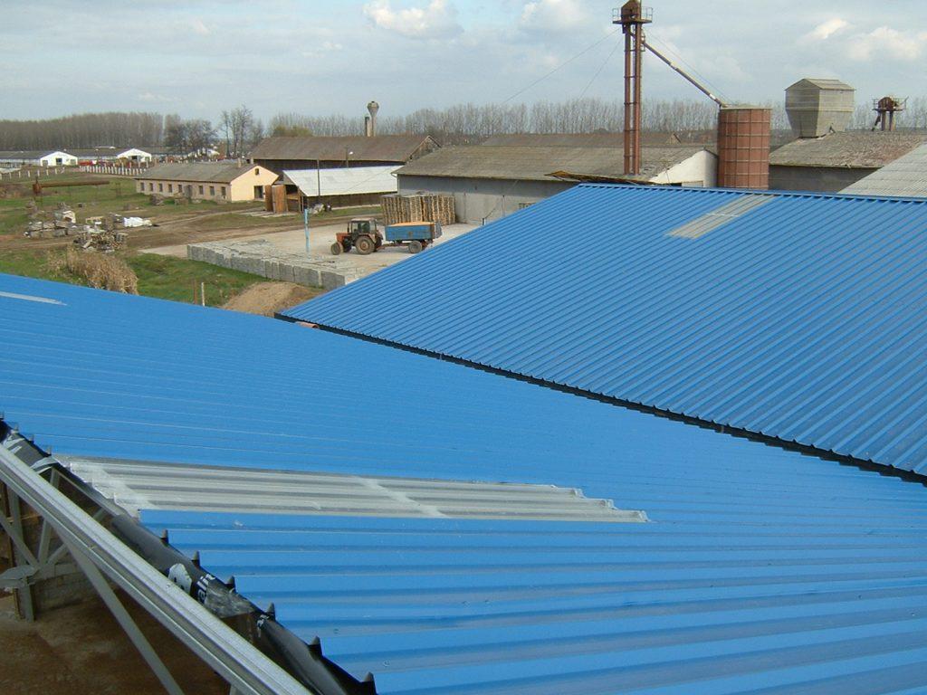 trapézlemez tető